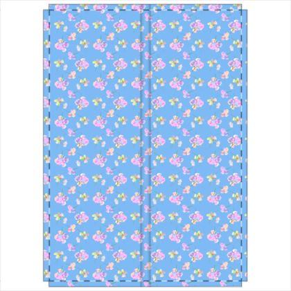 Folding Screen  My Sweet Pea  Periwinkle [blue]