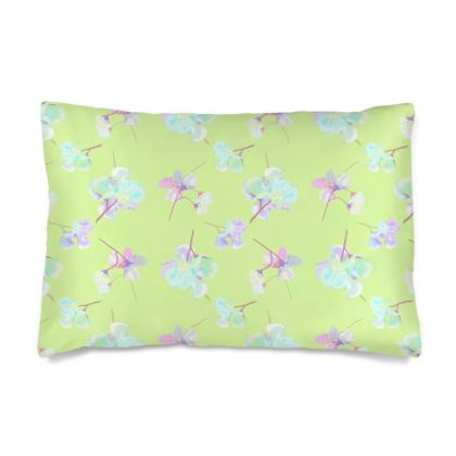 Silk Pillow Case  My Sweet Pea  New Lime