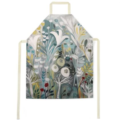 Apron in Natalie Rymer Winter Greys design
