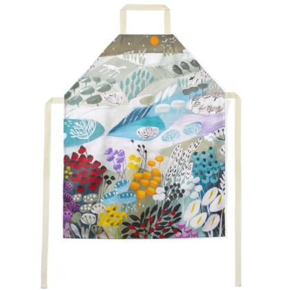 Apron in Natalie Rymer Snowy Hill design