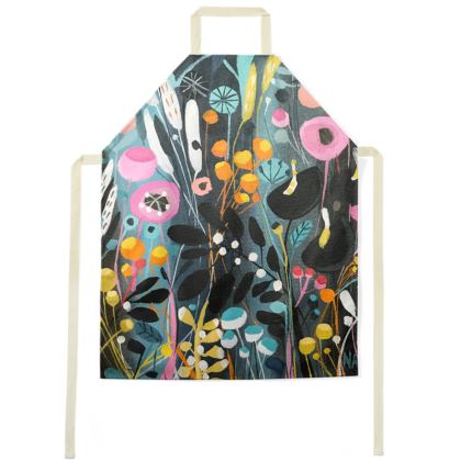 Apron in Natalie Rymer Wild Flowers design