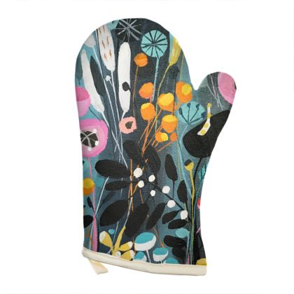 Oven Glove in Natalie Rymer Wild Flowers design