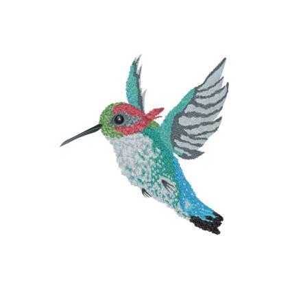 Bee Hummingbird Cushion