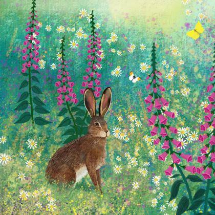 Journal with 'Sitting in Foxglove Meadow' design by Jo Grundy