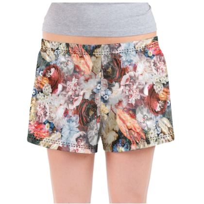 Flowers - Ladies Pyjama Shorts
