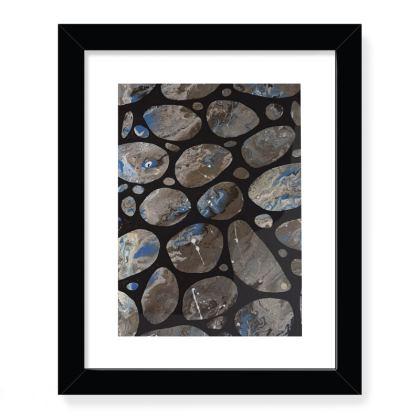 Pebble Print framed