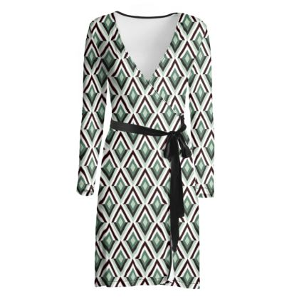 Art Deco Diamonds Wrap Dress