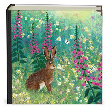 Scrap Book with 'Sitting in Foxglove Meadow' design by Jo Grundy