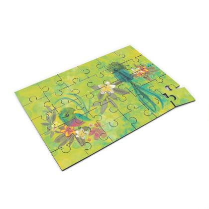 Tropical birds printed Jigsaw Puzzle for kids