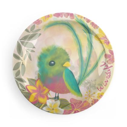 Tropical Birds printed Kids Party Plates