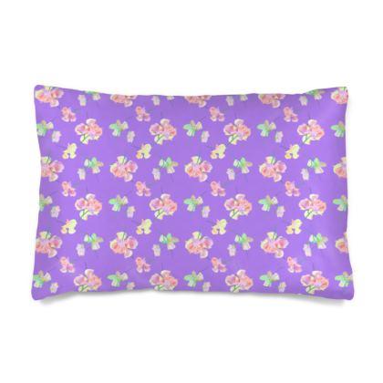 Silk Pillow Case  My Sweet Pea  Purple Passion
