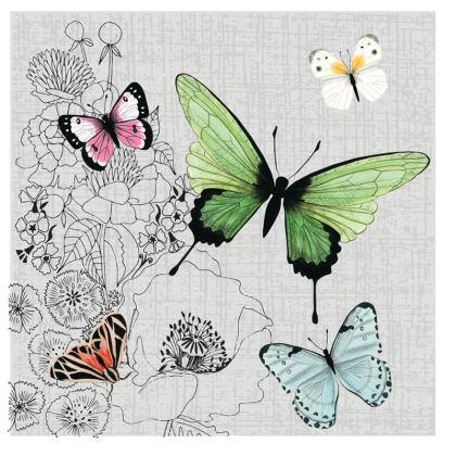 Beautiful Butterflies Cushion by Lucinda Kidney