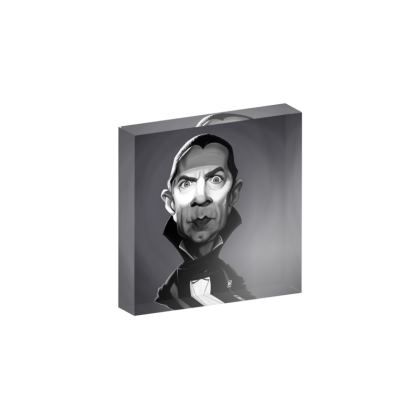 Béla Lugosi Celebrity Caricature Acrylic Photo Blocks