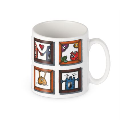 Mug with Crazy Funny Creatures