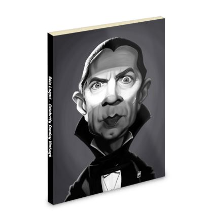 Béla Lugosi Celebrity Caricature Pocket Note Book