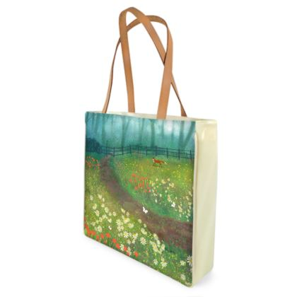 Shopper bag with Meadow by Misty Wood fox design by Jo Grundy