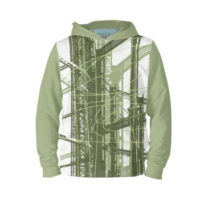 Hoodie with Green Gasholder Print