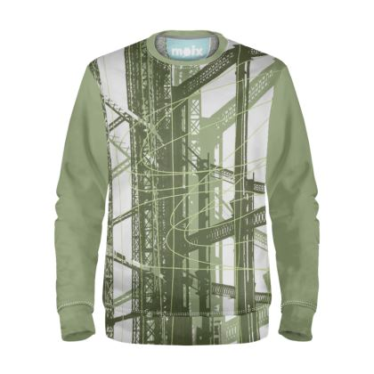 Sweatshirt with Gasholder Print in Green