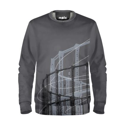 Grey Sweatshirt with Gasholder Print