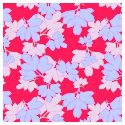 Tablecloth  Oriental Leaves  Leaves on Cerise