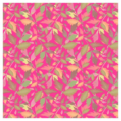 Tablecloth  Cathedral Leaves  Peony