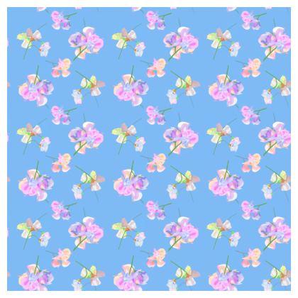 Tablecloth 140 cm round shown]   My Sweet Pea  Bluebird