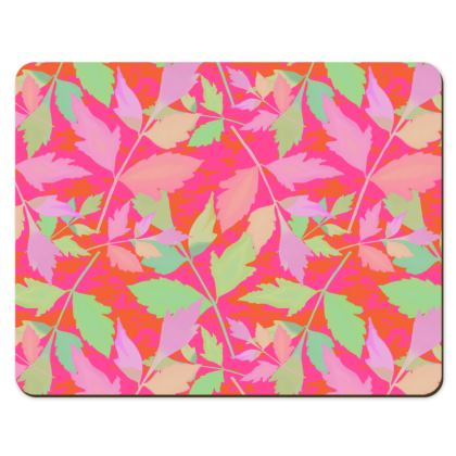 Placemats [pack of 8 shown]  Cathedral Leaves  Trifle