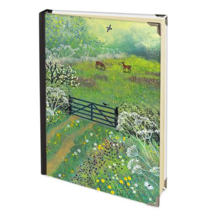Journal with The Gate to May Meadow design by Jo Grundy