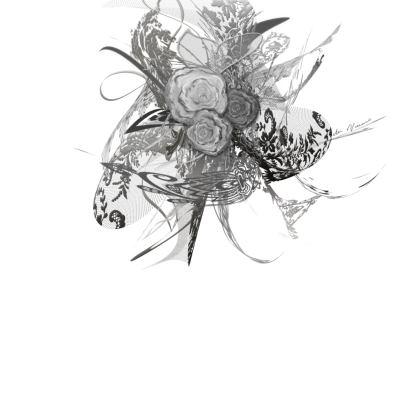 Skater Dress - Skater klänning - 50 shades of lace grey white