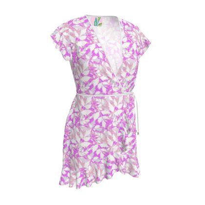 Tea Dress  Diamond Leaves Lilac Fantasy
