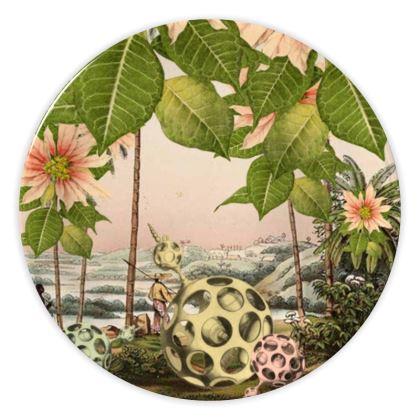 Poinsettia Trees China Plate