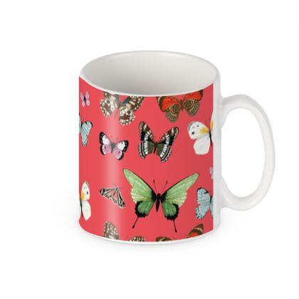 Beautiful Butterflies Builders Mugs