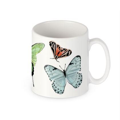 Beautiful Butterflies Builders Mugs by Lucinda Kidney
