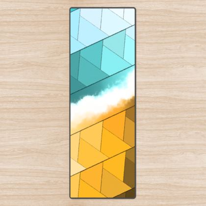Yoga Mat Colorful Abstract Design