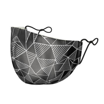 Abstract Blocks Silk Face Mask