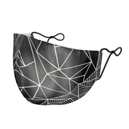 Abstract Half and Half 45 Silk Face Mask