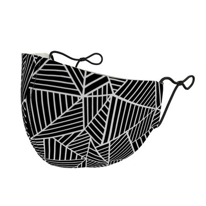 Abstract Lines Zoom Silk Face Mask