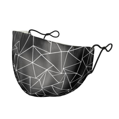Abstract Outline Zoom Silk Face Mask
