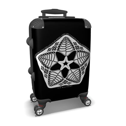 Cosmic Baby Black and White Small Suitcase