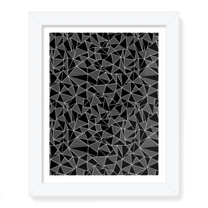 "Abstract Blocks Print 8"" x 10"""