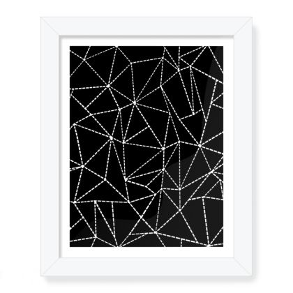 """Abstract Dotted 8""""x 10"""" Framed Print"""
