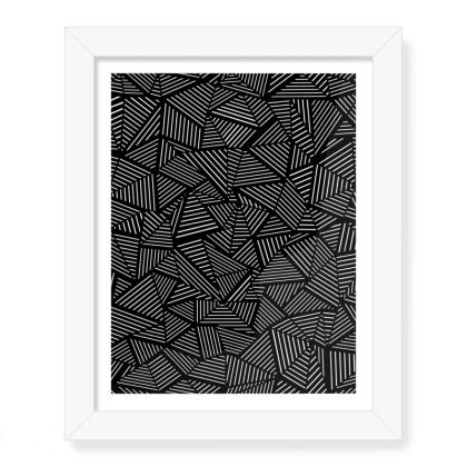 """Abstract Linear 8""""x 10"""" Framed Print"""