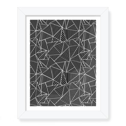 """Abstract Lines 8""""x 10"""" Framed Print"""