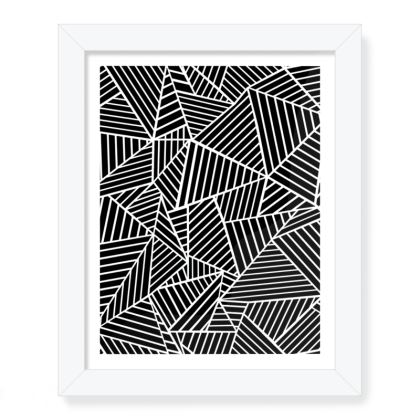"""Abstract Lines Zoom 8""""x 10"""" Framed Print"""