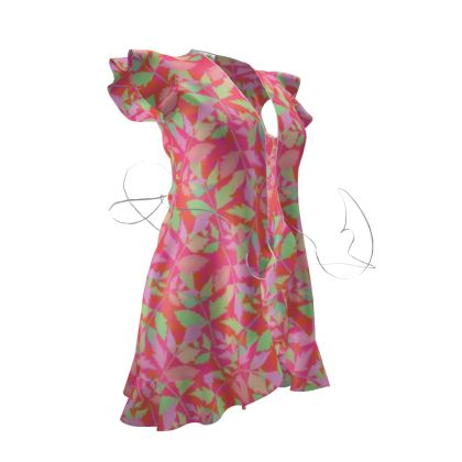 Tea Dress Cathedral Leaves  Trifle [pink,green]