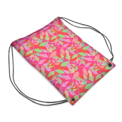 Drawstring PE Bag  Cathedral Leaves  Trifle