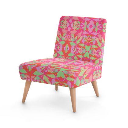 Occasional Chair  Cathedral Leaves  Trifle [pink, green]]