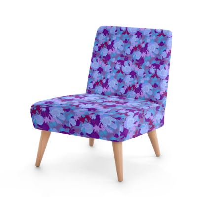 Occasional Chair  Field Poppies  Midnight [blue]