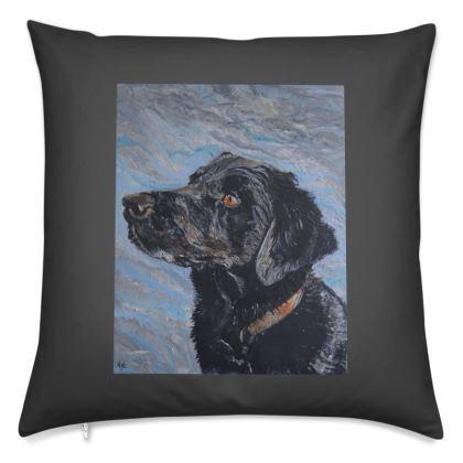Black Labrador Cushion/Pillow Cover