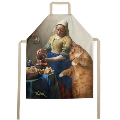 "Apron ""Vermeer's Kitchen Maid and the Cat"""
